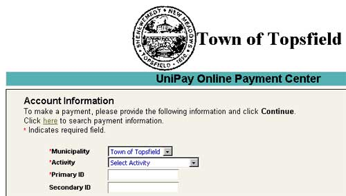 UniPay Online Payment Center