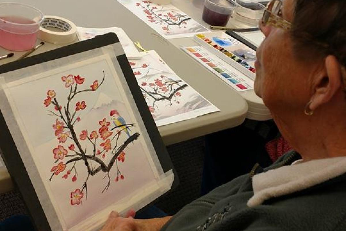 A Dedicated Group of Watercolor Painters Gather Monthly to Produce Masterpieces