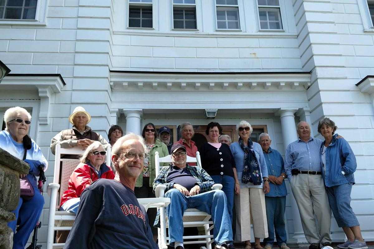 We Celebrated a Birthday on Mrs. Fuller's Porch in North Hampton, NH