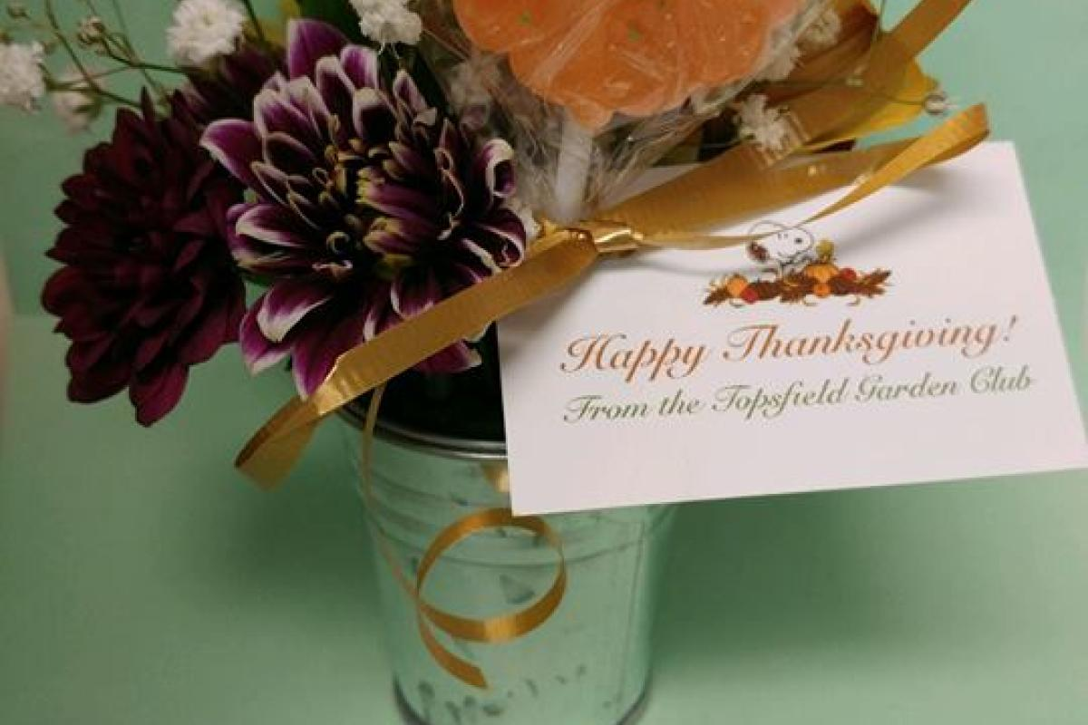 Beautiful Thanksgiving Arrangements Created by the Topsfield Garden Club Were Delivered to Meals on Wheels Clients