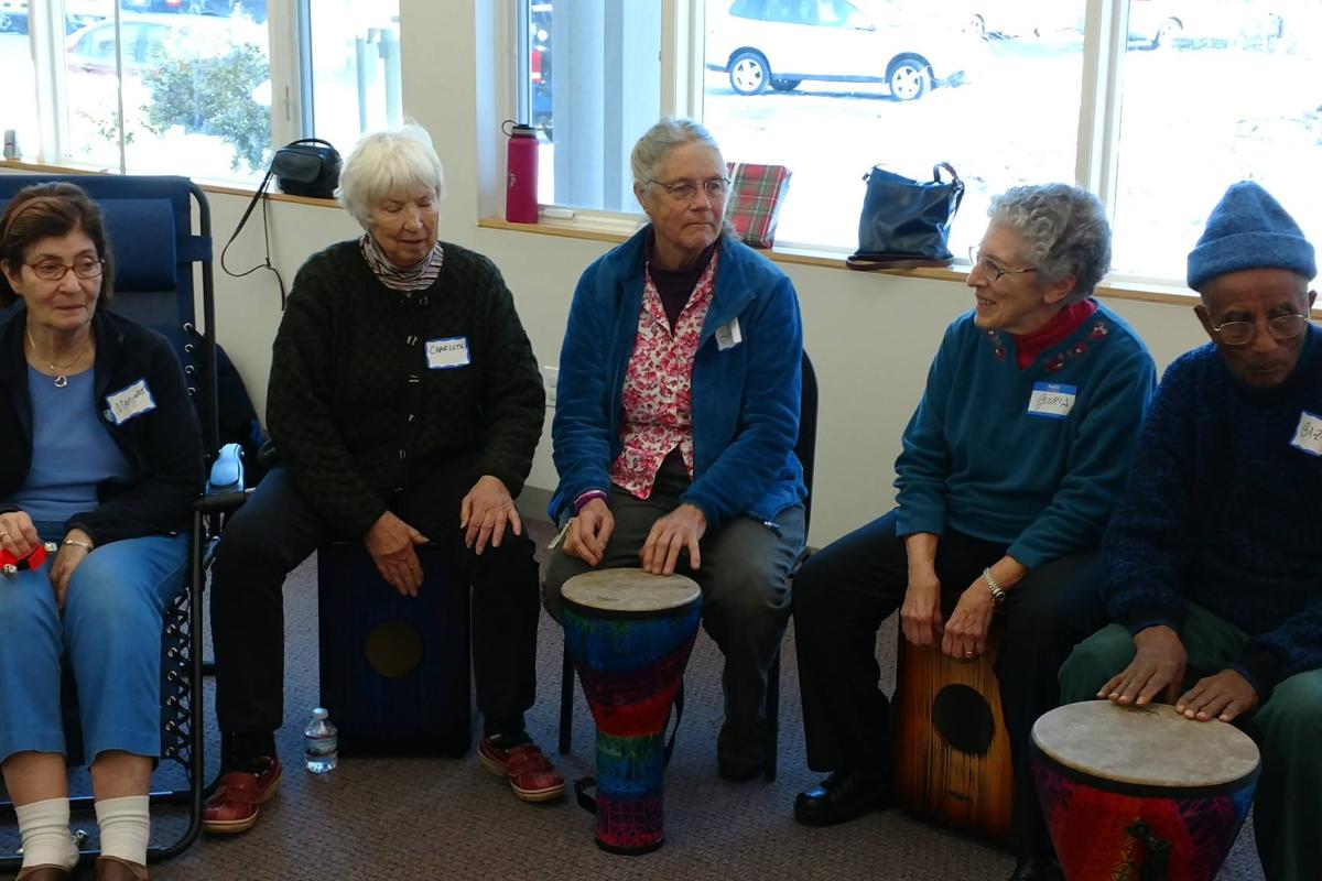 We Kept the Beat While in Our Drum Circle at Our December Memory Cafe