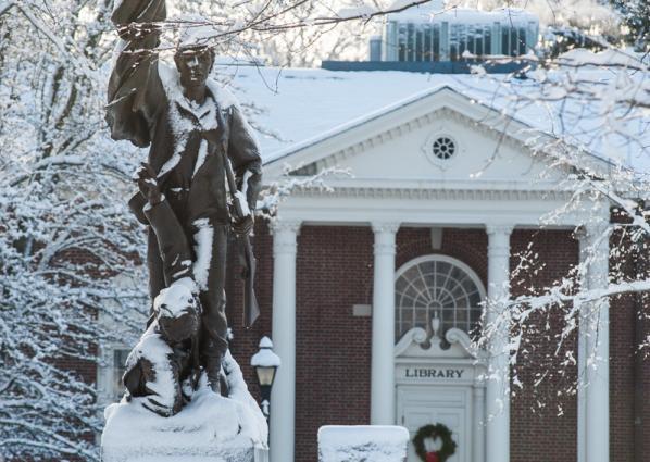 Statues in Winter