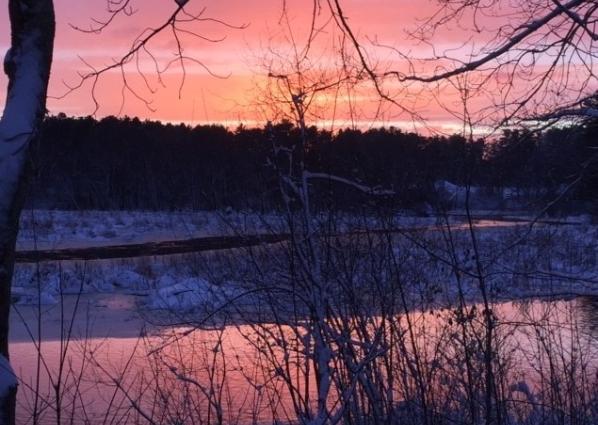 Ipswich River in Winter