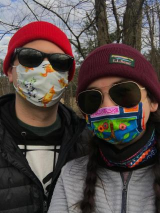 young people wearing masks