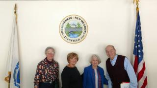Four Topsfield Seniors who participate in the Tax Work-Off Program