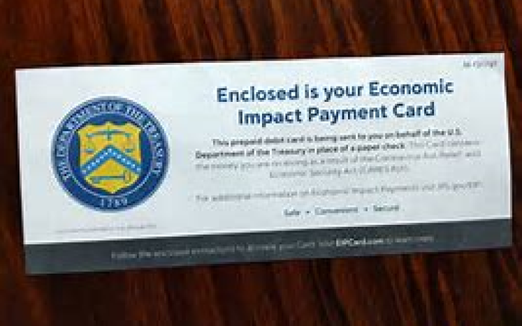 photo of CARES Act envelope