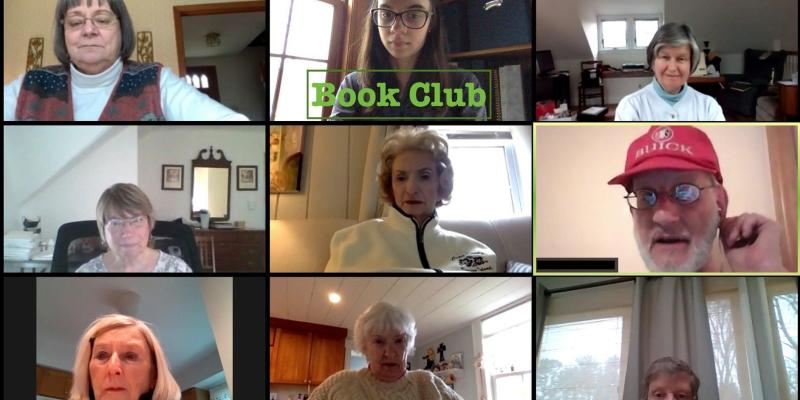 Several avid readers participate in Topsfield COA's inaugural Virtual Book Club